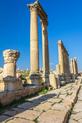 Roman city ruins of Jerash Jordan