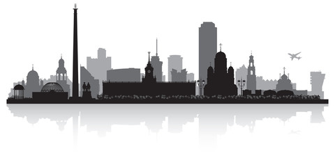Yekaterinburg Russia city skyline vector silhouette