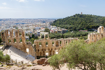 The Odeon of Herodes Atticus on the south slope of the Acropolis