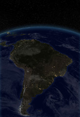 City lights - South America