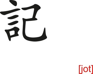 Chinese Sign for jot
