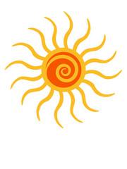 Sonne Spirale Wirbel Logo Design