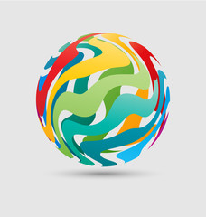 Colorful ball business icon