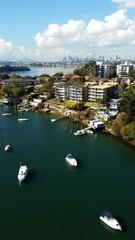 Fototapete - Vue de Sydney depuis Gladesville Bridge