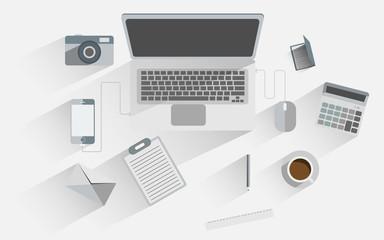 Flat design icon set of business.