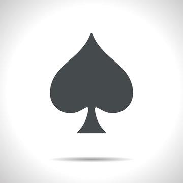 Vector game spade icon. Eps10