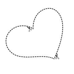 Herz Schere