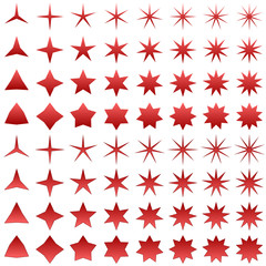 Red star shape collection