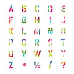 Stencil Colorful Graffiti Vector Typography