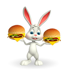 Easter Bunny with burger