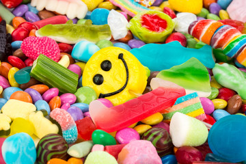 Photo sur Aluminium Confiserie smiley sweets