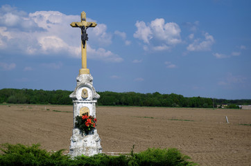 Cross on the countryside