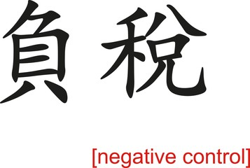 Chinese Sign for negative control
