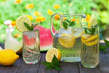 Cold lemonade, summer refreshment