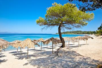 Paradiso sand beach on Akra Glarokavos, Greece.