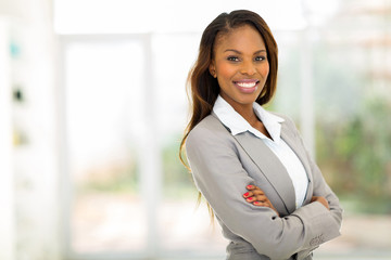 young african american businesswoman in office
