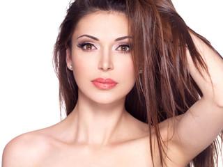 beautiful white pretty woman