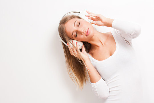 Immersed in music.