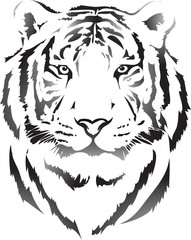 tiger head in black interpretation 3