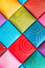 A square, Fabric texture collection and background