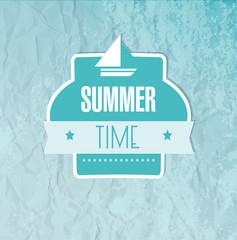 Summer time frame on a blue background