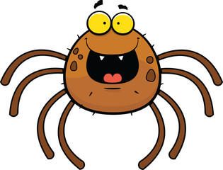Cartoon Spider Happy
