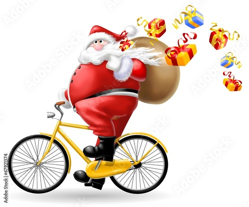 Immagini Babbo Natale In Bicicletta.Babbo Natale In Bici Stock Photo And Royalty Free Images On