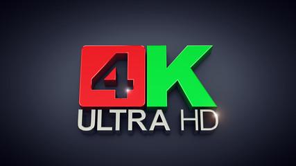 Ultra High Definition , 4K text on dark background