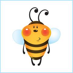 Funny bee in frame