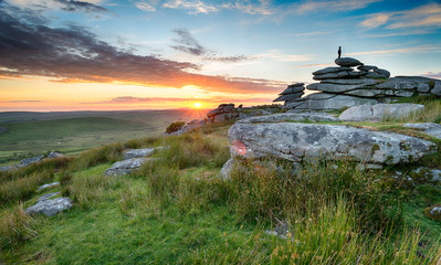 Wall Mural - Sunset on Bodmin Moor