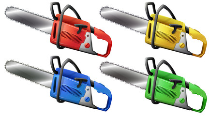 Set of chainsaws