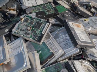 old computer parts, hdd close up