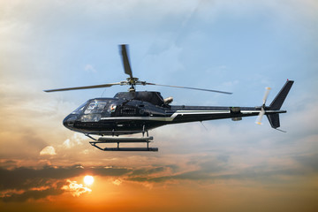 Printed kitchen splashbacks Helicopter Helicopter for sightseeing