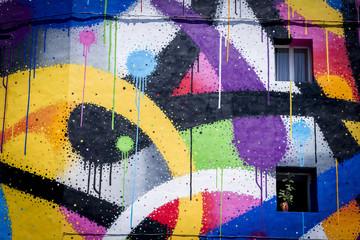 Graffiti taches de couleur