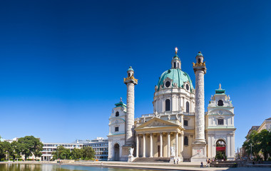 Fototapeten Wien Karlskirche, Vienna