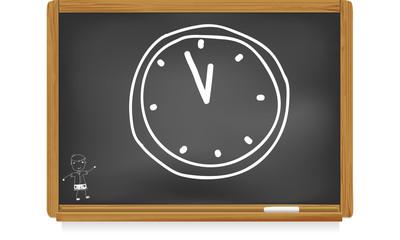 Tableau d'école : heure