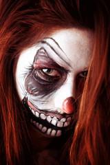 Clown face paiting