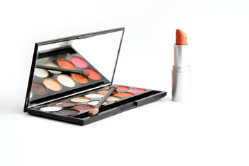 palette eye shadow and lipstick (make up)