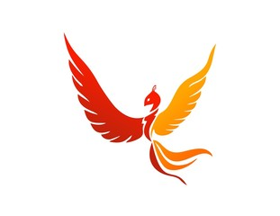 bird logo,phoenix flying,wings flame icon symbol