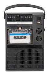 Vintage cassette tape recorder