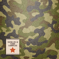 camouflage realistic fabric vector