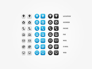 Multipurpose Business Card Icon Set