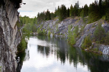 Marble quarry in Karelia, Russia