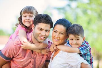 Cute family portrait