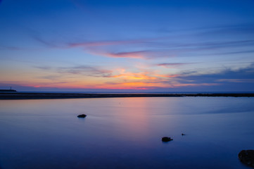 beautiful sunset by the beach in Taichung, Taiwan