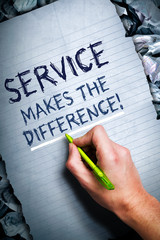 Service makes the difference