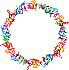 music notes border frame