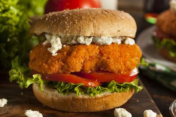 Homemade Buffalo Chicken Sandwich