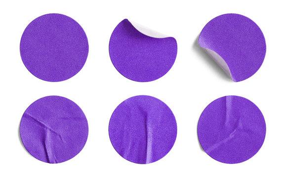 Purple Round Stickers