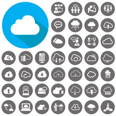 Cloud icons set. Illustration eps10